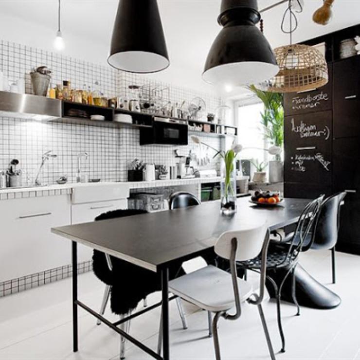 cozinha em preto e branco, blog detalhes magicos