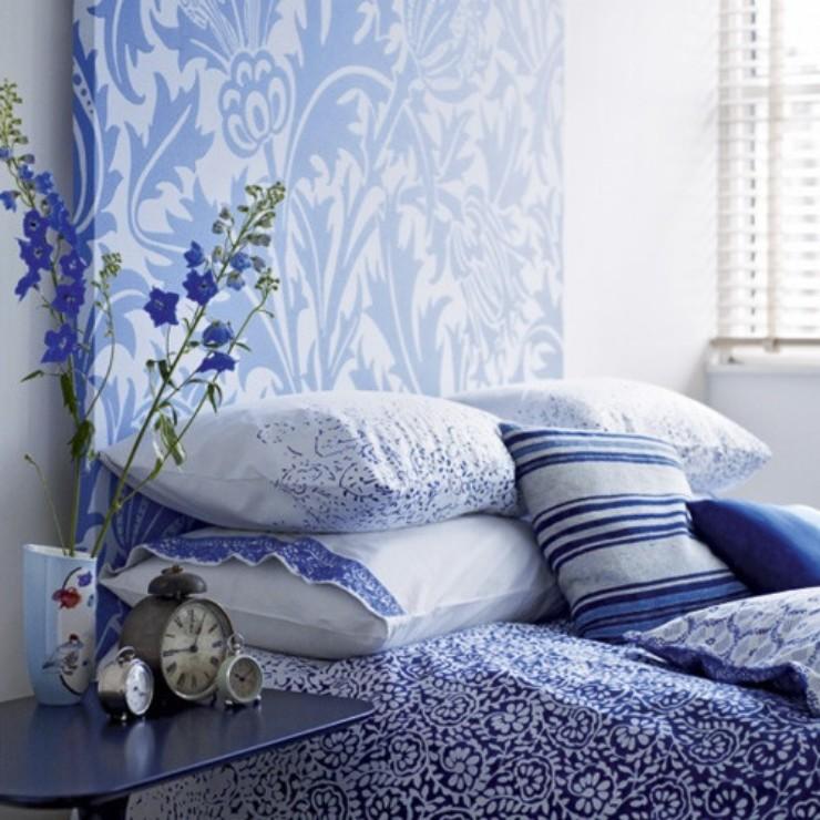 Quartos com azul e branco no blog detalhes magicos
