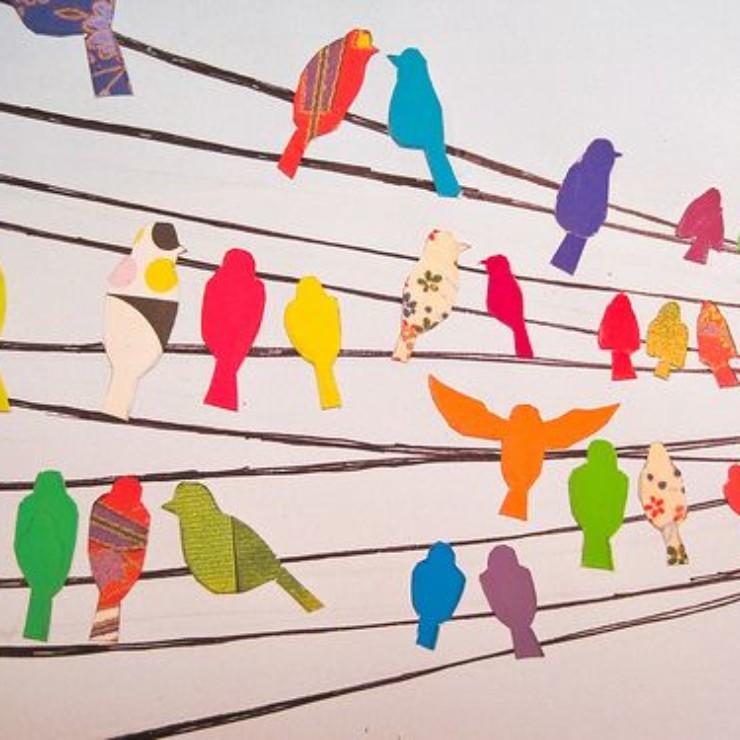 Pássaros em almofadas no bloga Detalhes Magicos