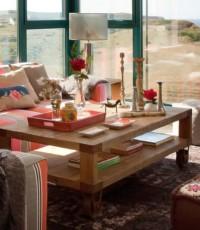 Casa cheia de cor no mar Contabrico, blog Detalhes Magicos