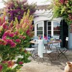 Casa em meio a bougainvilleas no blog Detalhes Magicos