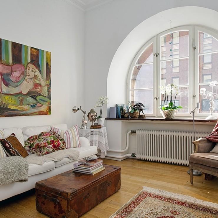 Apartamento na Suécia, no blog Detalhes Magicos