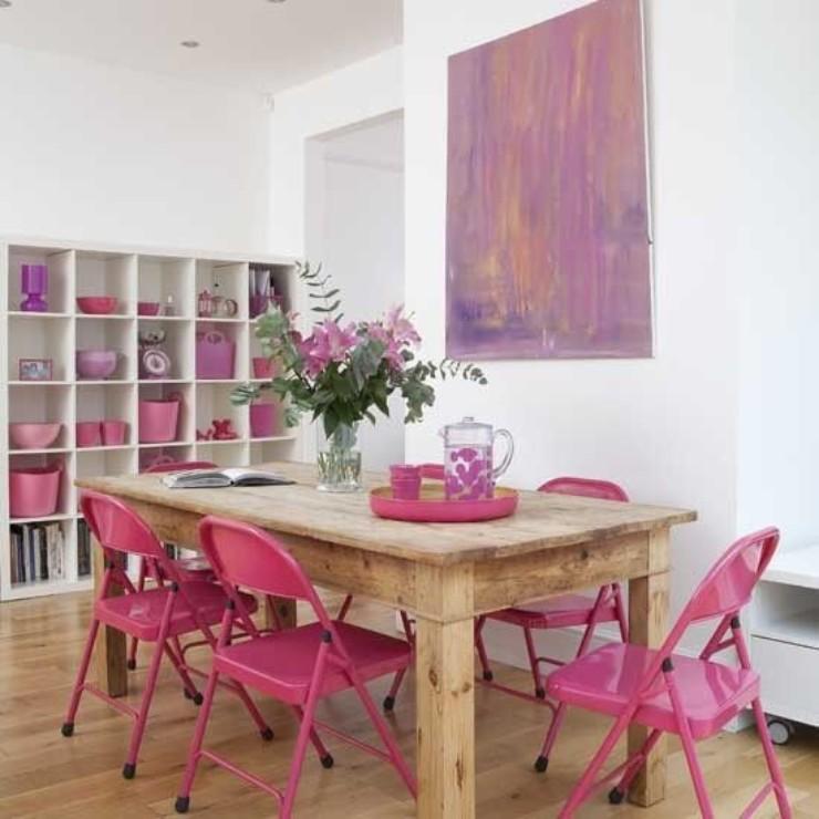 Cadeiras de metal pintadas no blog Detalhes Magicos