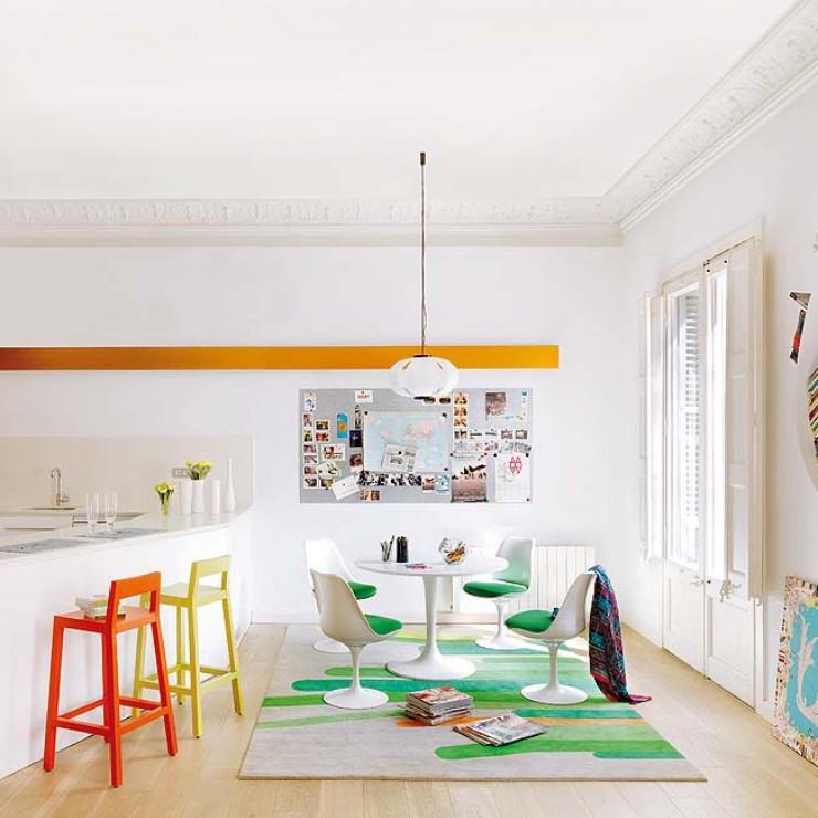 Apartamento de tetos altos em Barcelona, blog Detalhes Magicos