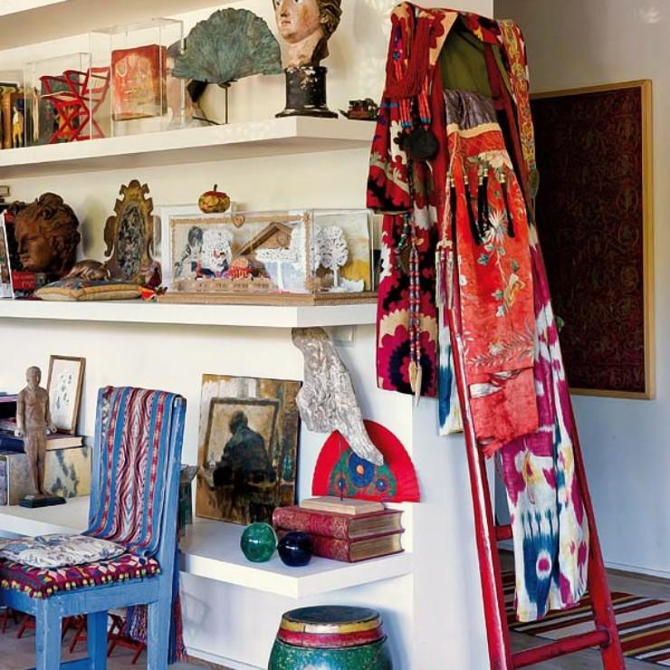 Casa de Isabelle de Borchgrave no blog Detalhes Magicos