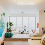 Alegre apartamento em Moscou no blog Detalhes Magicos