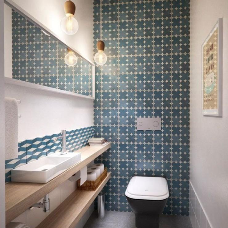 Ladrilho hidraulico no banheiro, blog Detalhes Magicos
